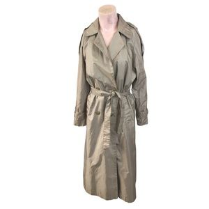 Vintage 1980s J. Gallery Rain Long Trench Coat